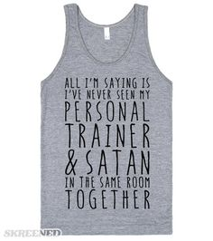 Have exercise misconceptions prevented you from starting an exercise program? Clear up any confusion and let these exercise tips improve your workout routine Funny Workout Shirts, Workout Memes, Funny Shirts, Funny Tanks, Workouts, Crossfit Shirts, Crossfit Clothes, Sarcastic Shirts, Fitness Shirts