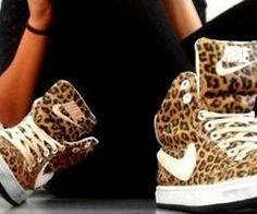 cheetah Nike hightops @Kelly Teske Goldsworthy Teske Goldsworthy frazier Hoaglund