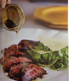 grilled beef tagliata, rucola, and parmigianno-reggiano / Mozza Restaurant Book