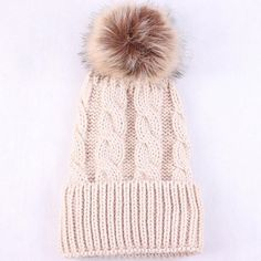 Keep Warm Winter Knitted Wool Multi-colors Hats and Caps