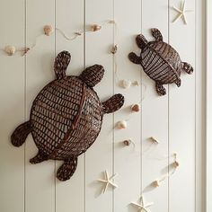 Wicker turtles / Perfect for the beachy decor going in Hope's room. Boys Bedroom Furniture, Furniture Decor, Turtle Love, Beach Room, Teen Bedding, Beach Bathrooms, Home Goods Decor, Bedroom Themes, Bedroom Ideas