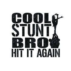 Cool Stunt Bro Cheer Iron On Decal by GirlsLoveGlitter on Etsy