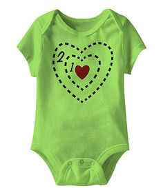 Love this Key Lime Tiny Heart Bodysuit - Infant by jiminy christmas on #zulily! #zulilyfinds