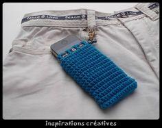 Tuto Housse Smartphone au Crochet ༺✿ƬⱤღ http://www.pinterest.com/teretegui/✿༻
