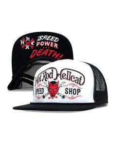Hotrod Hellcat Herren DEVIL WHITE Kappe/Cap.Biker,Oldschool,Tattoo,Custom Style