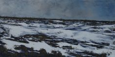 """""""Winter Edge"""" by John Dean, Acrylic on stretched canvas      20"""" x 40"""""""