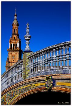 One of the four bridges at Plaza de Espana in Seville- I used to sit here and write letters home