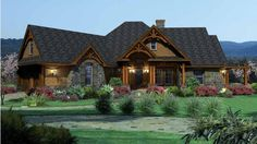 Mountainside Majesty Ranch Home whose interiors mixes a little ranch style with French Country.