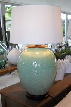 Mint Ceramic Lamp Base - Inside Out Home Boutique