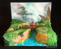Hakuna Matata - cake by Julie Cain Lion King Theme, Lion King Party, Lion King Birthday, Lion Guard Birthday Cake, Hakuna Matata, Lion Cakes, Lion King Cakes, Simba Rey Leon, Lion King Baby Shower