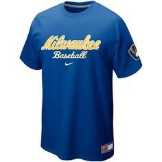 Nike Milwaukee Brewers Away Practice T-Shirt - Royal Blue