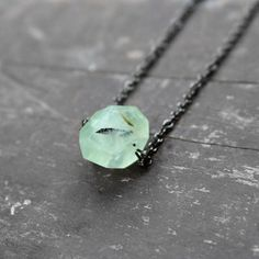 Urban Aviary | Prehnite Necklace now featured on Fab.