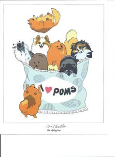 Potato Chio POMERANIAN PRINT by April Wells of The Infinity Loop custom made for Fuzzy Butt Gear and PCPR