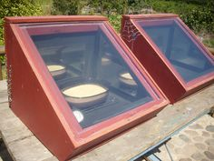 solar oven, in an intentional community, a row of these will go a long way.