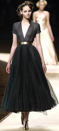 Black ciffon dress