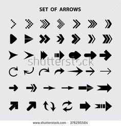 Arrow icon,set of arrows