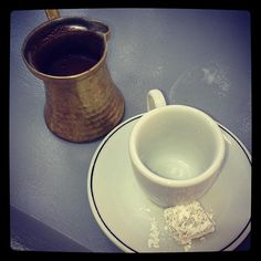 Greek coffee at Yacht Club Serifos. Memories and smells  Photo by @Eleni Miliou