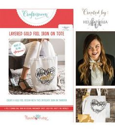 Create a beautiful gold foil tote perfect to carry around anything from groceries to crafts!