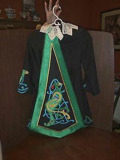 Black gabardine costume back