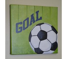 Soccer Wall Art, Canvas Print, Original Painting, Sports