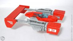 This F-38 Impulse spaceship is a LEGO design on pleyworld.com- visit the site to vote for this and your favorite designs real sets!