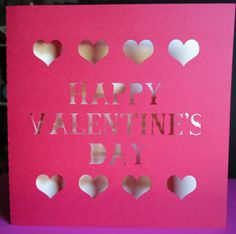 happy valentine's day cut out card $3.50