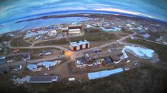 Iqaluit aerial view-land and water Unit 1 Grade 2 Social Alberta. Inuit Art, Study History, Teaching Social Studies, 1 Place, Grade 2, Social Science, First Nations, Aerial View, Art School