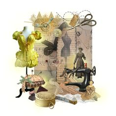 An art collage from December 2011 Collage Art, December, Gray, Sewing, Yellow, Polyvore, Dressmaking, Couture, Fabric Sewing