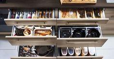 25 Creative Small Kitchen Storage Ideas to Maximize Your Space - InteriorSherpa Kitchen Drawer Organization, Small Kitchen Storage, Storage Spaces, Storage Ideas, Tiered Stand, Tiny Spaces, Kitchen Cupboards, Neue Trends, Kitchen Remodel
