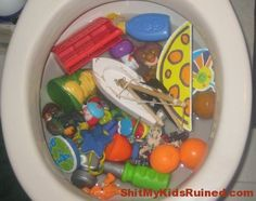 "a funny site called ""Shit My Kids Ruined"""