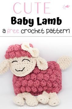Make this bubble stitch crochet lamb! This is an easy and quick crochet pattern Perfect for gifts to newborns! Crochet lamb. Crochet lamb free pattern. Crochet lamb free. Croche ragdoll lamb #crochetlamb #freecrochetlambpattern #babygiftideas Quick Crochet Patterns, Crochet Amigurumi Free Patterns, Crochet Flower Patterns, Crochet Patterns For Beginners, Crochet Tutorials, Crochet Lovey, Free Crochet, Easy Stitch, Bobble Stitch