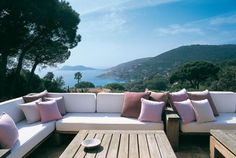 Outdoor Lounge of La Reserve Ramatuelle in Southeastern France