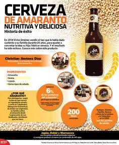 #SabíasQue la cerveza de amaranto además de ser deliciosa también es nutritiva. #InfografíaNTX