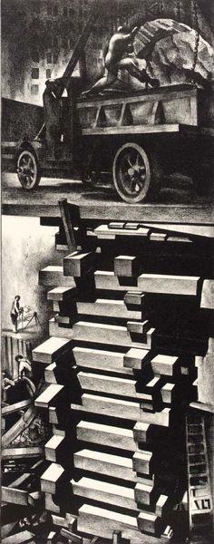 "Louis Lozowick - ""Construction"" 1930"