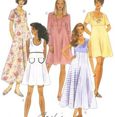 Empire waist dress patterns for sewing   mccalls sewing pattern pattern number 7655 easy pattern for misses