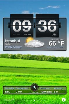 weather application for iPhone