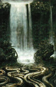 HR Giger - Mechanical waterfall