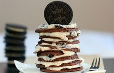 oreao cookie pancakes, they are awesome! you must try, a really guilty pleasure