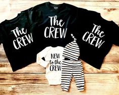 The Crew Sibling Shirt New to the Crew The Crew Big Brother Big Sister Sibling Shirts Sibling set Big Brother Shirt Big sister shirt - Funny Sister Shirts - Ideas of Funny Sister Shirts - Sibling Shirts, Baby Shirts, Family Shirts, Onesies, Big Sister Big Brother Shirts, Funny Sister, Baby Sister, Bob Marley, Matching Outfits