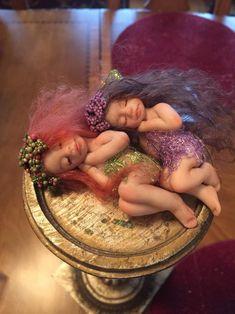 Tiny Fairy Fairies Fairy Doll Fairy Sculpture by MagicalFairies Baby Fairy, Love Fairy, Princess Pictures, Fairy Figurines, Weird Creatures, Fairy Art, Fairy Dolls, Fairy Houses, Ooak Dolls