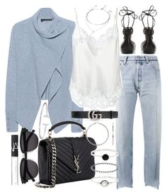 """""""Untitled #20827"""" by florencia95 ❤ liked on Polyvore featuring Vetements, 360 Sweater, Givenchy, Yves Saint Laurent, Gucci, Isabel Marant, Forever 21, Accessorize and NARS Cosmetics"""