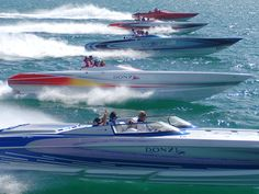 _great pic of Donzi's Fast Boats, Cool Boats, Speed Boats, Drag Boat Racing, Offshore Boats, Ski Boats, Yacht Interior, Float Your Boat, Boat Painting