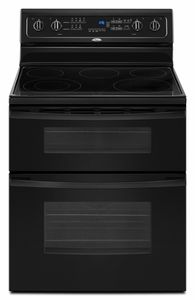 GGE388LXB Whirlpool Gold 30 Double Oven Freestanding Electric Range - Black