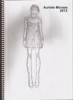 Auriele (desenhos de Moda): Desenhos de sala de Aula