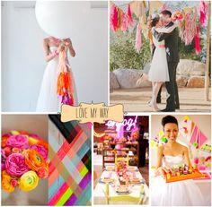 FLURO wedding Inspiration. Love My Way for Lovers Downunder