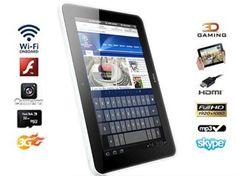 Questa offerta non bisogna lasciarsela scappare, ci sono pochi pezzi disponibili: Tablet ultraslim versione Android 4.0, bianco o nero, schermo capacitivo 7 pollici, WiFi e 3G, tastiera e custodia al prezzo sorprendente di € 99,00 invece di € 299,00