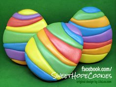 Easter Egg Cookies colorful stripes