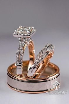 24 Unique Wedding Rings For Somebody Special ❤ unique wedding rings rose gold wedding rings bridal sets diamond engagement rings halo rings ❤ Wedding Ring For Him, Wedding Rings Rose Gold, Cool Wedding Rings, Wedding Rings For Women, Wedding Ring Bands, Gold Wedding, Wedding Unique, Womens Jewelry Rings, Women Jewelry