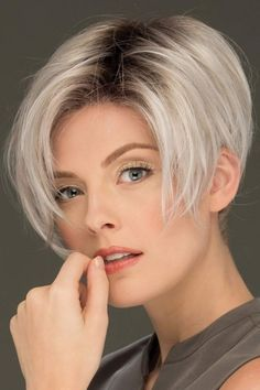 Perry by Estetica Wigs - Lace Front Wig Trending Hairstyles, Pixie Hairstyles, Short Hairstyles For Women, Bangs Hairstyle, Lace Front Wigs, Lace Wigs, Bobs For Thin Hair, Choppy Hair, Short Bob Haircuts