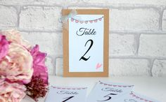 Rustic wedding table numbers, table number printed, card table numbers, wedding stationary, wedding accessories, wedding planning by KraziCrochet on Etsy